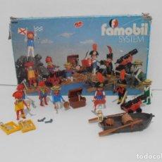 Playmobil: FAMOBIL, CAJA PIRATAS REF 3410, PLAYMOBIL, MUY COMPLETA, MUY DIFICIL. Lote 145187902