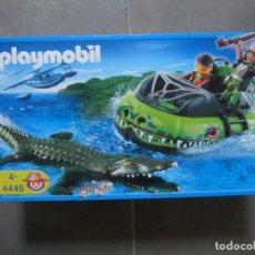 Playmobil: PLAYMOBIL 4446 - AERODESLIZADOR DE VIGILANCIA DE COCODRILOS - NUEVO. Lote 145494346