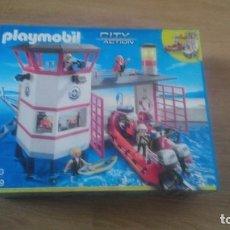 Playmobil: PLAYMOBIL 5539 EMERGENCIAS LANCHA PUERTO SALVAMENTO NUEVA A ESTRENAR. Lote 145823314