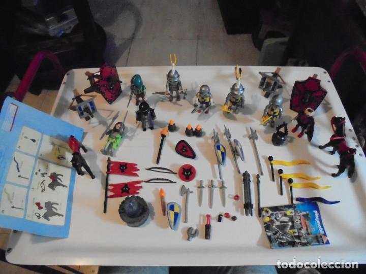 PLAYMOBIL MEDIEVAL LOTE VARIADO MUÑECOS Y ACCESORIOS.ESCUDO,TORRE DRAGON,,,,,, (Juguetes - Playmobil)