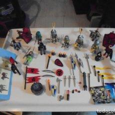 Playmobil: PLAYMOBIL MEDIEVAL LOTE VARIADO MUÑECOS Y ACCESORIOS.ESCUDO,TORRE DRAGON,,,,,,. Lote 145910422