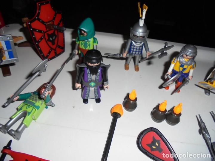 Playmobil: PLAYMOBIL MEDIEVAL LOTE VARIADO MUÑECOS Y ACCESORIOS.ESCUDO,TORRE DRAGON,,,,,, - Foto 5 - 145910422