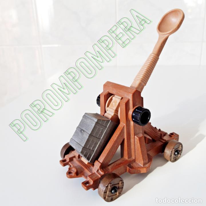 PLAYMOBIL CATAPULTA MEDIEVAL SIMILAR 3030 3653 4438 5738 7700 SOLDADO ATAQUE CABALLEROS BÁRBAROS (Juguetes - Playmobil)