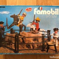 Playmobil: FAMOBIL 3484 COWBOYS VAQUEROS VACAS PLAYMOBIL ESPAÑA OESTE WESTERN DESCATALOGADO CAJA. Lote 146808786