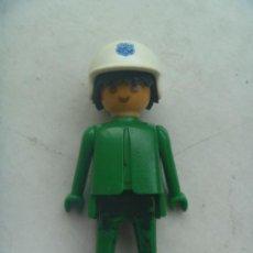 Playmobil: PLAYMOBIL DE 1974 : FIGURA DE HOMBRE CON CASCO DE POLICIA.. Lote 147247222