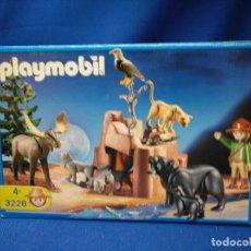 Playmobil: PLAYMOBIL ANIMALES DEL BOSQUE DE NORTE AMÉRICA CON GUARDABOSQUES REF 3228. Lote 147555414