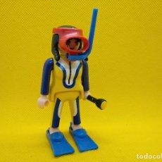 Playmobil: PLAYMOBIL MUJER SUBMARINISTA CON LINTERNA. Lote 147557250