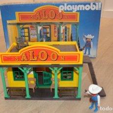 Playmobil: PLAYMOBIL REF. 3461 (V1 OUTLINE-NR) SALOON OESTE CON CAJA. VINTAGE. POCAS SEÑALES DE USO. Lote 147658082