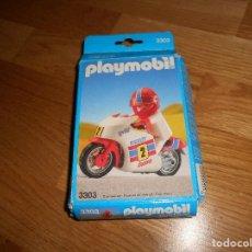 Playmobil: PLAYMOBIL MOTO DE CARRERAS CON DORSAL Nº2 REF 3303 CON CAJA AÑOS 80. Lote 147927482