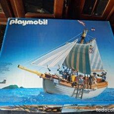 Playmobil: BARCO GOLETA PLAYMOBIL DE LOS 90 COMPLETO. Lote 150458774