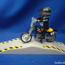 Playmobil: PLAYMOBIL MOTORISTA DE TRIAL. Lote 150505698