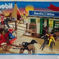 Playmobil: PLAYMOBIL SET OESTE DILIGENCIA Y OFICINA DEL SHERIFF REF 4431 (2003). EDICIÓN 30 ANIVERSARIO. Lote 150341890