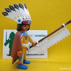 Playmobil: PLAYMOBIL JEFE INDIO, GUERRERO APACHE. Lote 151593318