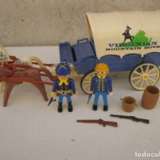 Playmobil: CARRETA VIRGINIAN DE PLAYMOBIL CON COMPLEMENTOS.. Lote 151824678
