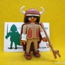 Playmobil: PLAYMOBIL ANTIGUO HECHICERO INDIO, GUERRERO. Lote 97404799