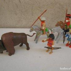 Playmobil: LOTE INDIOS Y BISONTE DE PLAYMOBIL.. Lote 152302042