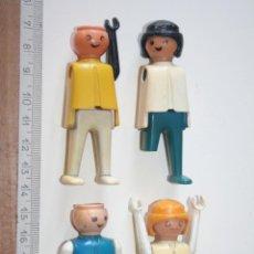Playmobil: LOTE 4 MUÑECOS *** JUGUETE FAMOBIL GEOBRA (1974) *** ALGUNOS LES FALTAN PIEZAS Y HAY ROTAS. Lote 152420302