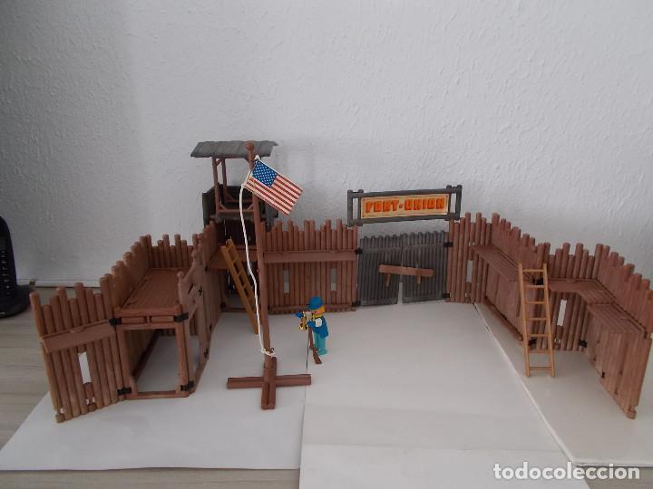 FAMOBIL ORIGINAL AÑOS 70 SERIE OESTE FORT UNION COMPLETO PERO SIN CAJA REF. 3420. NO PLAYMOBIL. PTOY (Juguetes - Playmobil)