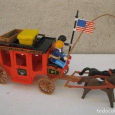Playmobil: DILIGENCIA COLORADO & ST. LOUIS WESTERN COACH DE PLAYMOBIL - U.S. MAIL - CON 2 SOLDADOS NORDISTAS.. Lote 152764858