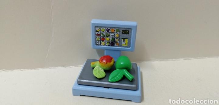 PLAYMOBIL, BALANZA SUPERMERCADO COMIDA 3202 TIENDA MANZANA FRUTA CIUDAD MERCADO (Juguetes - Playmobil)