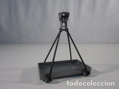 PLAYMOBIL-MONTACARGAS MERCANCIAS PLATEADO ESPECIAL MODERNO. (Juguetes - Playmobil)