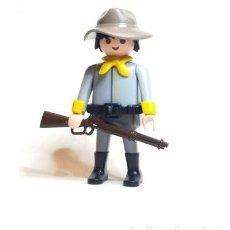 Playmobil: PLAYMOBIL FIGURAS, SOLDADO DE CABALLERÍA CONFEDERADO, SUDISTA OESTE WESTERN. Lote 172179784