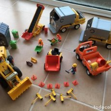 Playmobil: LOTE CAMIONES Y TRACTOR. PLAYMOBIL.. Lote 155793754