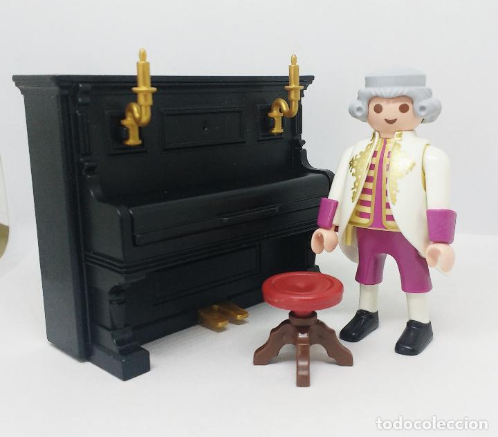 Playmobil: PLAYMOBIL Custom Wolfgang Amadeus Mozart con piano - Foto 2 - 155940818