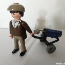 Playmobil: PLAYMOBIL MEDIEVAL FIGURA JUGADOR DE GOLF CON CARRITO. Lote 158919702