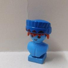 Playmobil: PLAYMOBIL, PENACHO AZUL JEFE INDIO WESTERN OESTE GUERRERO PLUMAS CINTA PELO CABEZA GORRO. Lote 159721241
