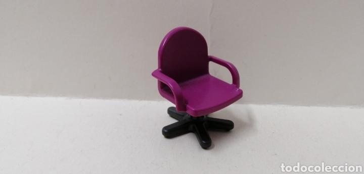 Playmobil, silla lila ruedas oficina despacho casa moderna hospital asiento