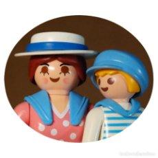 Playmobil: PLAYMOBIL VICTORIANO SRA. HOSKINSON CON HUGH DUO CUSTOM. Lote 161604766