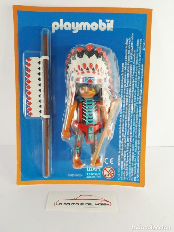 FIGURA JEFE INDIO PLAYMOBIL ALTAYA (Juguetes - Playmobil)