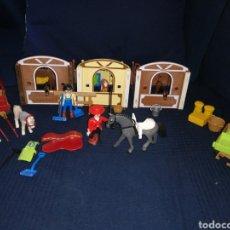 Playmobil: LOTE PLAYMOBIL DOMADORA CUADRAS CABALLOS CARROZA Y COMPLEMENTOS. Lote 161877789