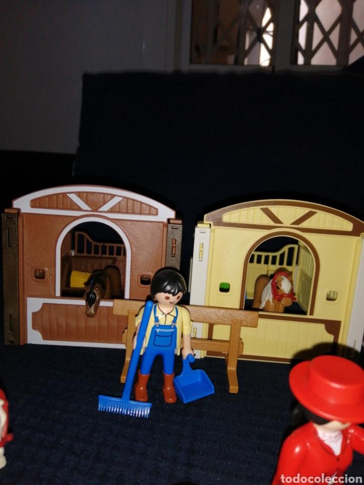 Playmobil: Lote Playmobil domadora cuadras caballos carroza y complementos - Foto 5 - 161877789