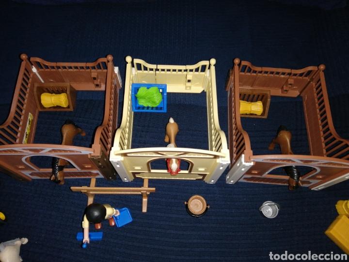 Playmobil: Lote Playmobil domadora cuadras caballos carroza y complementos - Foto 6 - 161877789