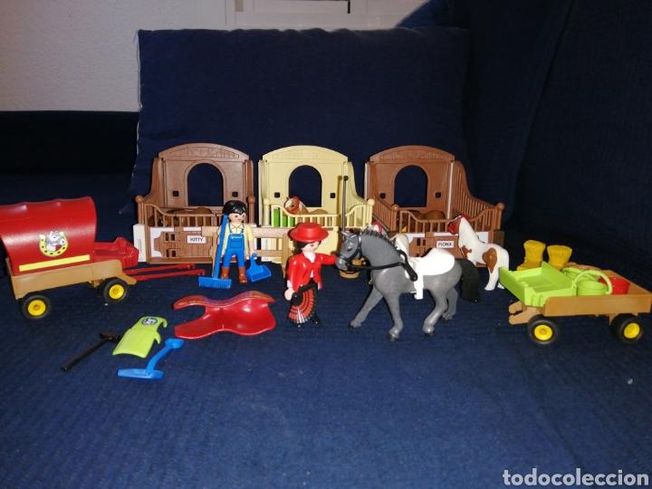 Playmobil: Lote Playmobil domadora cuadras caballos carroza y complementos - Foto 8 - 161877789