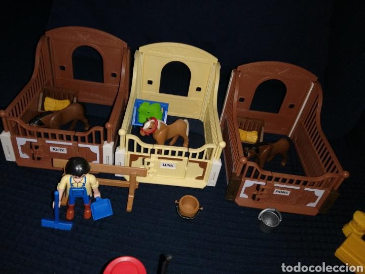 Playmobil: Lote Playmobil domadora cuadras caballos carroza y complementos - Foto 7 - 161877789