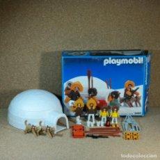 Playmobil: PLAYMOBIL ESQUIMALES , REFERENCIA 3465 COMPLETO CON CAJA . Lote 161964518