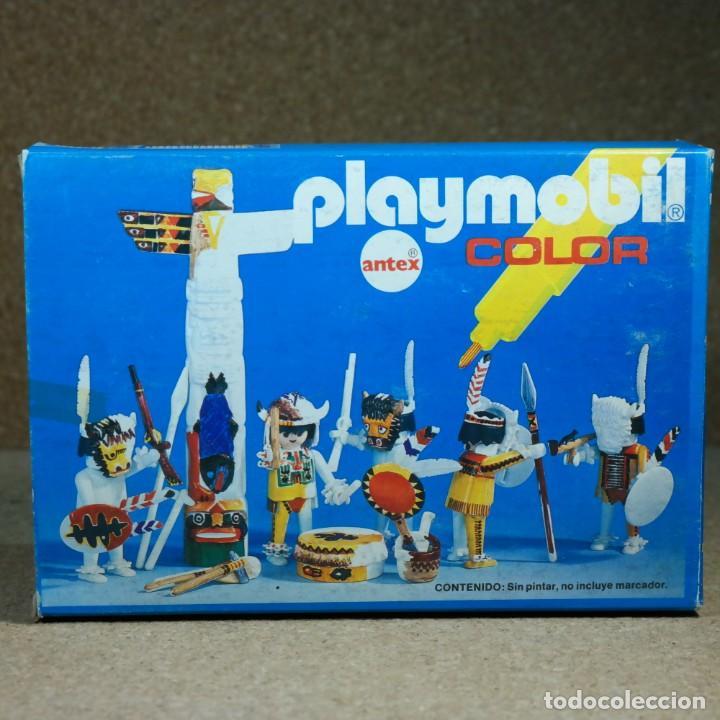 Playmobil: Playmobil Color ref. 3620 completo con caja , sin colorear , Guerreros indios con totem - Foto 6 - 162326782