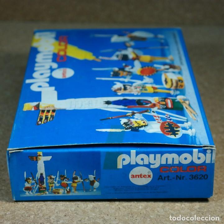 Playmobil: Playmobil Color ref. 3620 completo con caja , sin colorear , Guerreros indios con totem - Foto 7 - 162326782