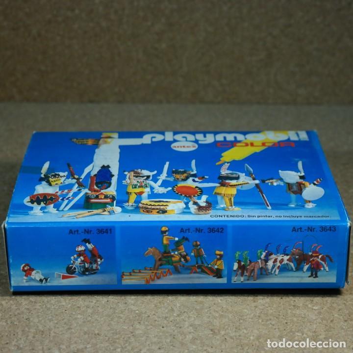 Playmobil: Playmobil Color ref. 3620 completo con caja , sin colorear , Guerreros indios con totem - Foto 8 - 162326782