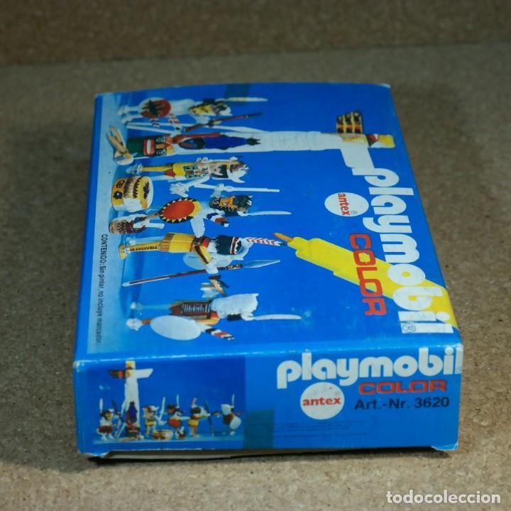 Playmobil: Playmobil Color ref. 3620 completo con caja , sin colorear , Guerreros indios con totem - Foto 9 - 162326782