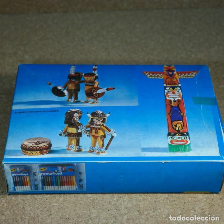 Playmobil: Playmobil Color ref. 3620 completo con caja , sin colorear , Guerreros indios con totem - Foto 10 - 162326782