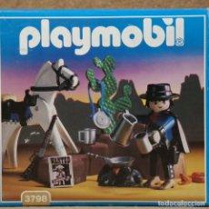 Playmobil: PLAYMOBIL REF. 3798 EN CAJA , NUEVO , CAZARRECOMPENSAS BANDIDO DEL LEJANO OESTE , WESTERN. Lote 162426922