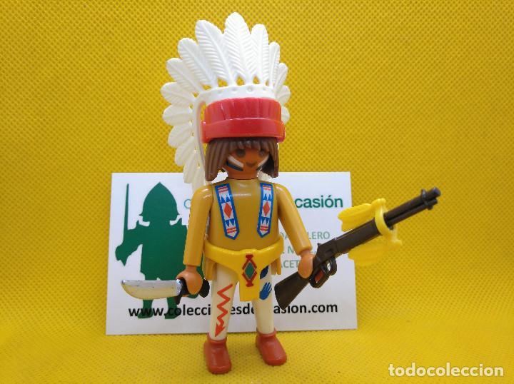 PLAYMOBIL GUERRERO INDIO, JEFE INDIO (Juguetes - Playmobil)