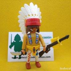 Playmobil: PLAYMOBIL GUERRERO INDIO, JEFE INDIO. Lote 162431046