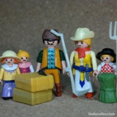 Playmobil: PLAYMOBIL FAMILIA DE EMIGRANTES MOLDAVOS BOGZOVICH , WESTERN LEJANO OESTE CUSTOM. Lote 162489162
