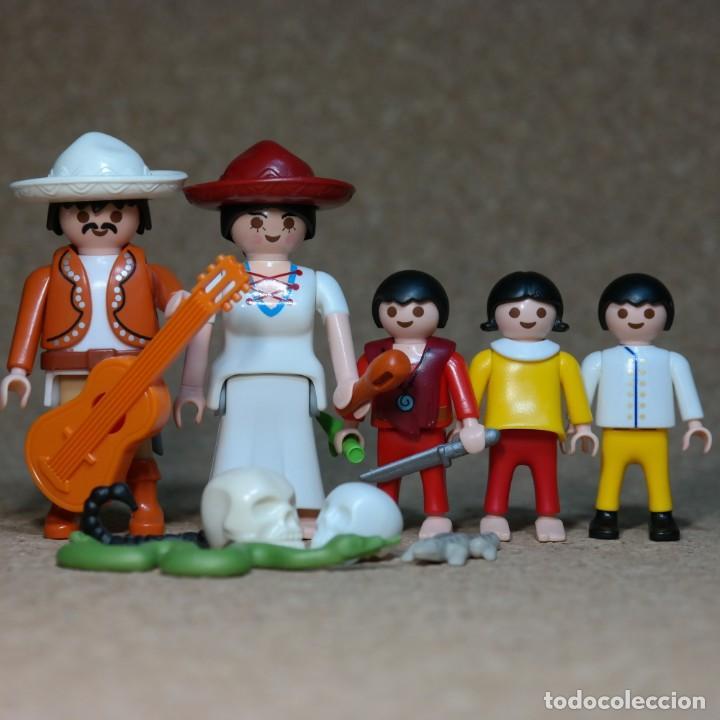 PLAYMOBIL FAMILIA MEXICANA SANCHES , WESTERN LEJANO OESTE , MEXICANO , CUSTOM (Juguetes - Playmobil)