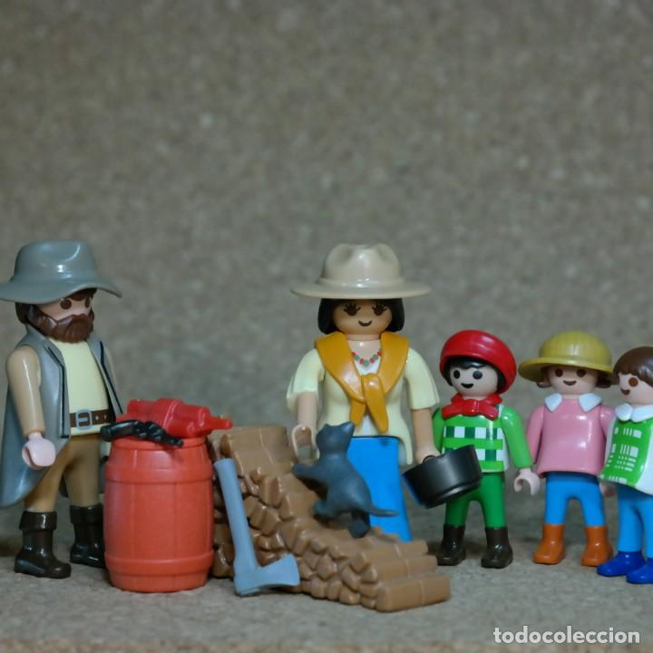 PLAYMOBIL FAMILIA FOLEY , LEJANO OESTE WESTERN , CUSTOM . (Juguetes - Playmobil)